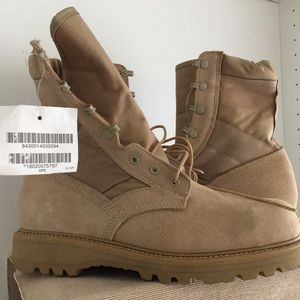 Military Leather Steel Toe Boots Size 9.5